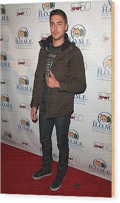 Zac Efron In Attendance For Stiks Wood Print by Everett
