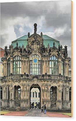 Zwinger Dresden - Carillon Pavilion - Caution Fragile Wood Print by Christine Till