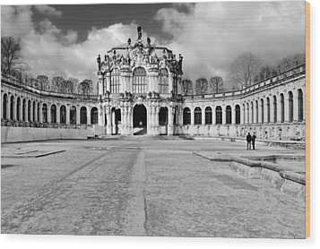 Zwinger Dresden Rampart Pavilion - Masterpiece Of Baroque Architecture Wood Print by Christine Till