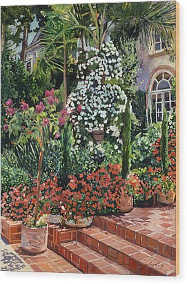 A Garden Approach Wood Print by David Lloyd Glover