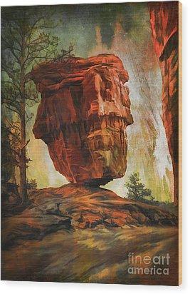 Balanced Rock  Wood Print by Andrzej Szczerski
