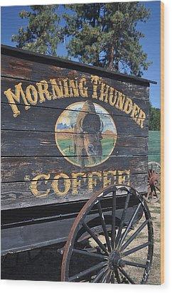 Coffee Wagon Wood Print by Brent Easley