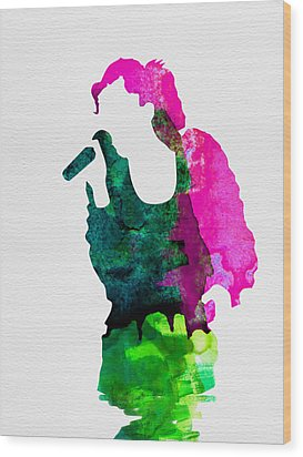 Gwen Watercolor Wood Print by Naxart Studio