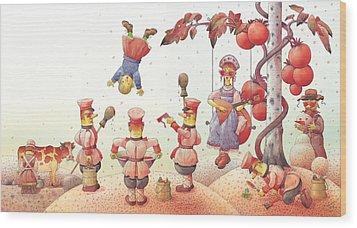 Lisas Journey09 Wood Print by Kestutis Kasparavicius