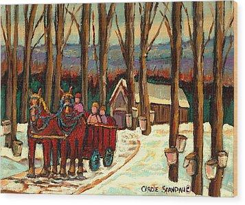 Sugar Shack Wood Print by Carole Spandau
