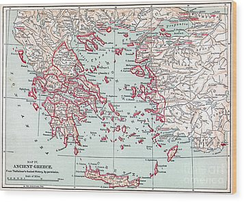 Map: Ancient Greece Wood Print by Granger