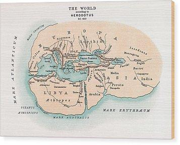 World Map Wood Print by Granger