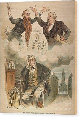 Cartoon: Panic Of 1893 Wood Print by Granger