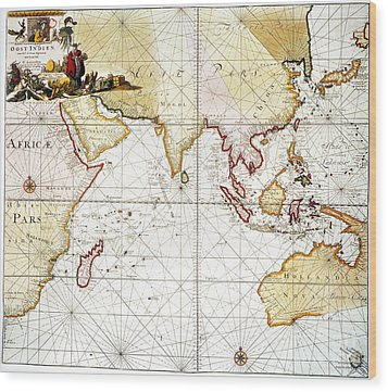 Indian Ocean: Map, 1705 Wood Print by Granger