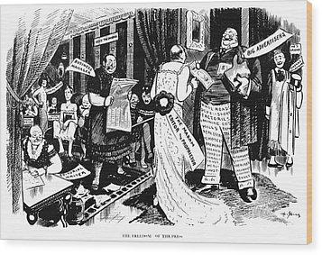 Press Cartoon, 1912 Wood Print by Granger