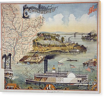 Mississippi Steamboat Wood Print by Granger
