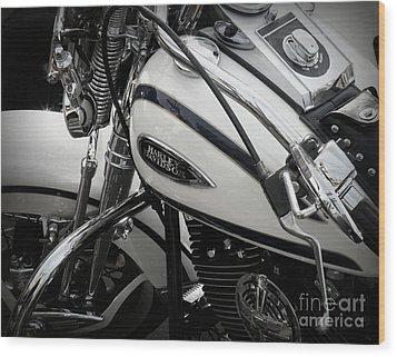 1 - Harley Davidson Series  Wood Print by Lainie Wrightson