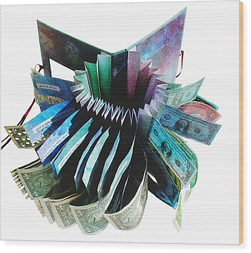 36 Ways To Lose Money Wood Print by Annie Alexander