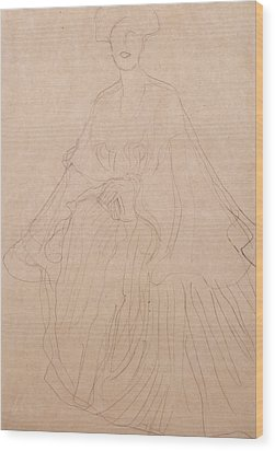 Adele Bloch Bauer Wood Print by Gustav Klimt
