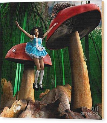 Alice In Wonderland Wood Print by Oleksiy Maksymenko