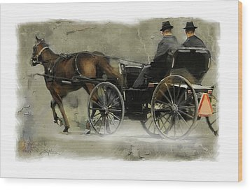Amish Country Wood Print by Bob Salo