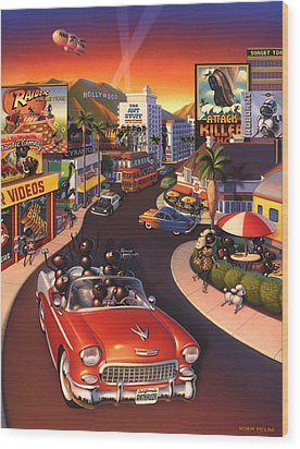Ants On The Sunset Strip Wood Print by Robin Moline