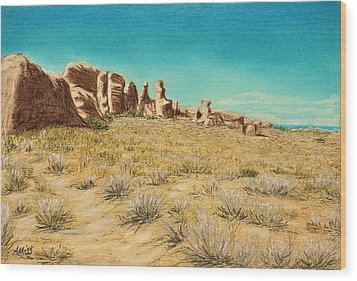 Arches 2 Wood Print by Jan Amiss