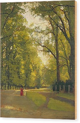 Backs Of The Colleges Cambridge Wood Print by Cyrus Johnson