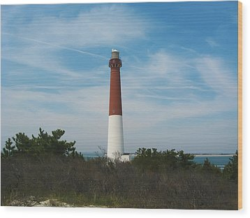 Barnegat Lighthouse - New Jersey Wood Print by Bill Cannon