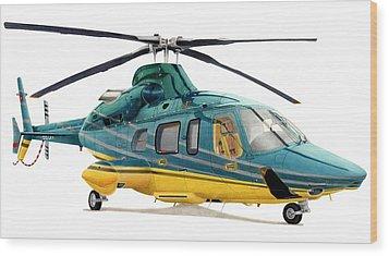 Bell 430 Wood Print by Lyle Brown