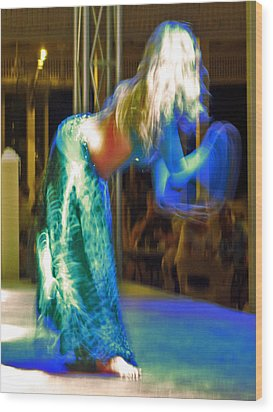 Belly Dance Wood Print by Andy Za
