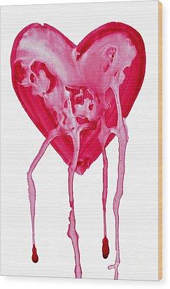 Bleeding Heart Wood Print by Michal Boubin
