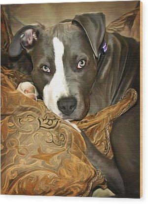 Blu Wood Print by Deanna Maxwell