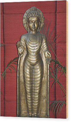 Buddha 1 Wood Print by Vijay Sharon Govender