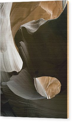 Canyon Sandstone Abstract Wood Print by Mike Irwin