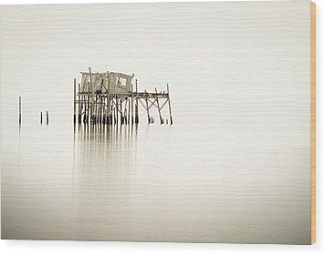 Cedar Key Structure Wood Print by Patrick M Lynch