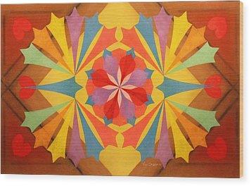 Circus Of Color Wood Print by Richard Van Order
