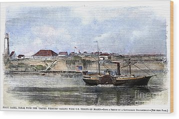 Civil War: Union Steamer Wood Print by Granger