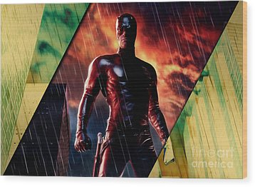Daredevil Collection Wood Print by Marvin Blaine