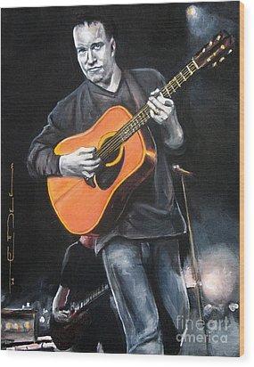 Dave Mathews Band Wood Print by Eric Dee