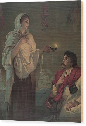 Florence Nightingale 1820-1910 Wood Print by Everett