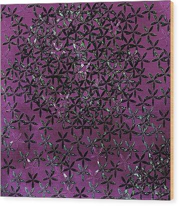 Flower Shower Wood Print by Bonnie Bruno