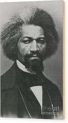 Frederick Douglass, African-american Wood Print by Photo Researchers
