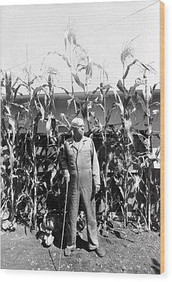 Giant Corn Man Wood Print by Gerhardt Isringhaus