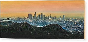 Golden California Sunrise Wood Print by Az Jackson