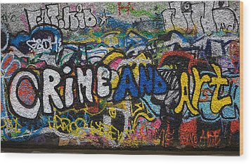 Grafitti On The U2 Wall, Windmill Lane Wood Print by Panoramic Images