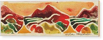 High Mountain Meadows Wood Print by Annie Alexander