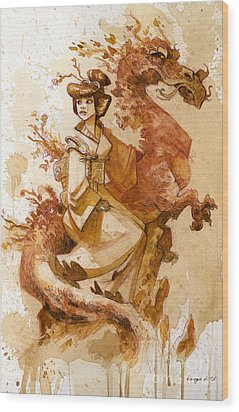 Honor And Grace Wood Print by Brian Kesinger