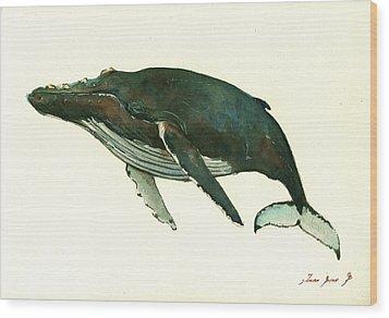 Humpback Whale  Wood Print by Juan  Bosco