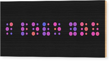 I Love You - Braille Wood Print by Michael Tompsett