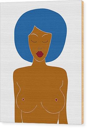 Illustration Of A Woman Wood Print by Frank Tschakert