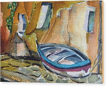 Italian Riviera Wood Print by Mindy Newman