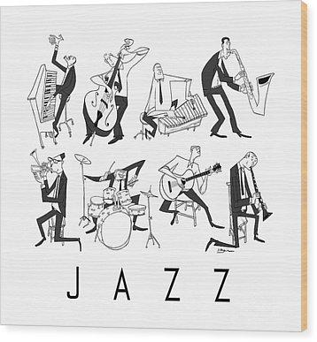 Jazz Wood Print by Sean Hagan