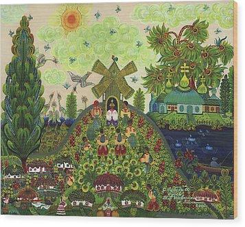 Lebedy Village Visited By T. G. Shevchenko Sometimes Wood Print by Marfa Tymchenko