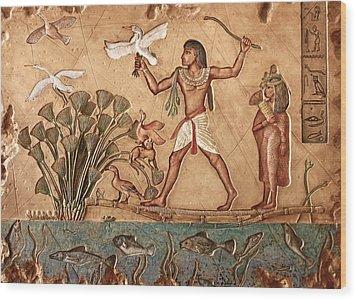 Life On The Nile Wood Print by Greg Coffelt